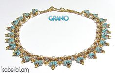 GRANO Pearl and SuperDuo Beadwork Necklace tutorial instructions for personal use only