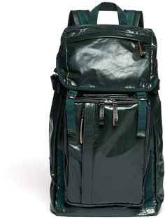 Marni Leather Backpack in Green for Men (Blue and Green) - Lyst