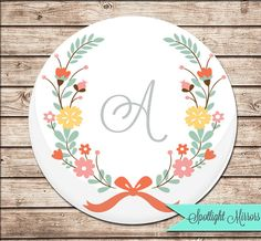 Personalized Bridesmaid Gift Compact Mirror by Spotlight Mirrors