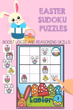 Sudoku Puzzles for Kids Math Center Rotations, Math Centers, Sudoku Puzzles, Puzzles For Kids, Easter Activities For Kids, Fun Activities, Math Talk, Spring School, Math Graphic Organizers