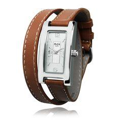 83053e27fb0  montrebraceletdoubletour  montrebraceletcuirdoubleenroulage Montre quartz  femme