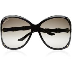 Gucci Oversized square-frame acetate sunglasses ($325) ❤ liked on Polyvore