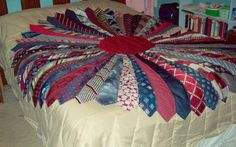 tie quilt pattern Quilting Ideas Project on Craftsy Necktie Quilt Necktie Quilt, Shirt Quilt, Tie Crafts, Sewing Crafts, Quilting Projects, Sewing Projects, Quilting Ideas, Old Ties, Memory Pillows