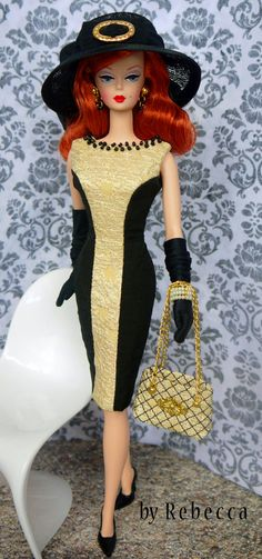 OOAK Fashion for Silkstone Barbie and FR by door Rebeccafashions, $95.00 LOVE the red hair!