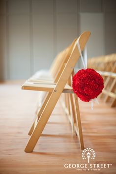 Worried about forgetting the lil things like this! They add just that lil something extra! Love it! #DREAMWEDDING    love this chair detail | www.georgestreetphoto.com