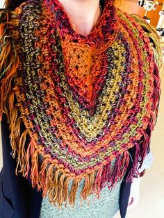 Cowl scarf handmade by Betty Paruch in Cape Breton, Nova Scotia