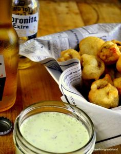 Beer Battered Mushrooms with Herbed Ranch - The View from Great Island