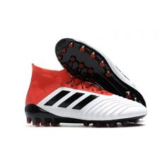 new style ec20c 2e999 Nuevos 2018 Botas de fútbol Adidas Predator 18.1 AG Baratas Hombre Blanco  rojo negro