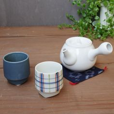 Less Is More. The matte white glaze on a simple form, and well designed to use. Green tea is now popular drink all over the world. This Kyushu teapot is for two