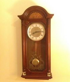 Spiegel Made In Korea Wooden 31 Day Pendulum Wind Up Wall Clock With Key  Time Keeper Clocks