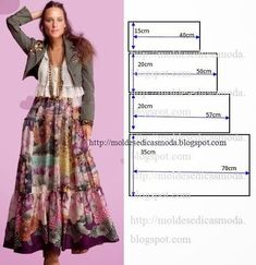 Skirt pattern maxi dress tutorials 42 New Ideas Diy Clothing, Sewing Clothes, Dress Sewing Patterns, Clothing Patterns, Fashion Sewing, Diy Fashion, Diy Kleidung, Pattern Fashion, Dressmaking