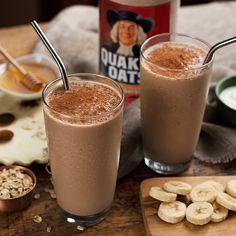 Cocoa Espresso Banana Oat Smoothie - Recipe | QuakerOats.com