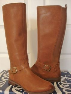 Lucky Brand Boots Ronan Cognac Riding Genuine Leather SOLD OUT size 10 NIB NEW #LuckyBrand #FashionKneeHigh