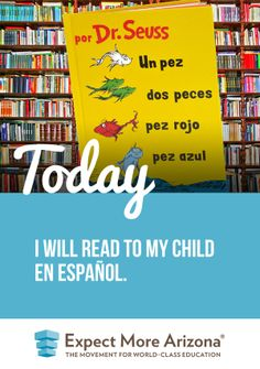 Research shows that exposing children to other languages has many benefits beyond language skills, including cognitive development, creativity, and critical thinking. Reading to your child in another language will be fun for both of you, while helping to understand other cultures and engaging your child's curiosity. http://TodayInAZ.org/ #TodayInAZ