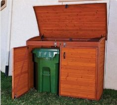 Great way to hide trash cans