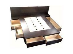 cama con cajones / base sommier para colchon / opcional respaldo mesas de luz - Argentina