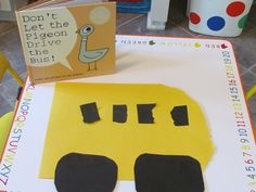 Don't Let the Pigeon Drive the Bus Preschool Craft