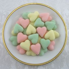 Sorbet Mix Petite Heart Shaped Sugar Cubes - 60 Pieces by Sugars by Sharon on Gourmly