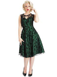 94521b1174cb Emerald & Onyx Lace Vintage Cocktail Dress by Voodoo Vixen Clothing |  Dresses | PLASTICLAND Vintage