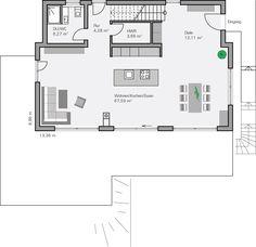Traumhaus modern grundriss  Bungalow Grundrisse … | häuser | Pinterest | Bungalow Grundrisse ...