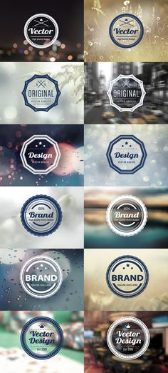 PSD Badges (Vintage, Retro) Style | Design | Graphic Design Junction