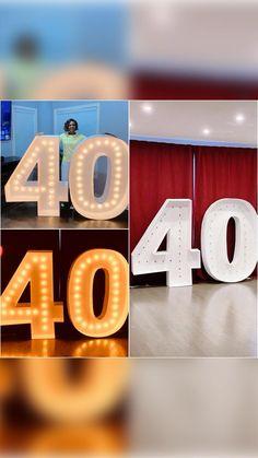 Diy 60th Birthday Decorations, Diy Birthday Number, 40th Birthday Gifts, Diy Party Decorations, Dollar Tree Birthday, 40th Anniversary Gifts, Bfg, Dollar Tree Crafts, Ballon