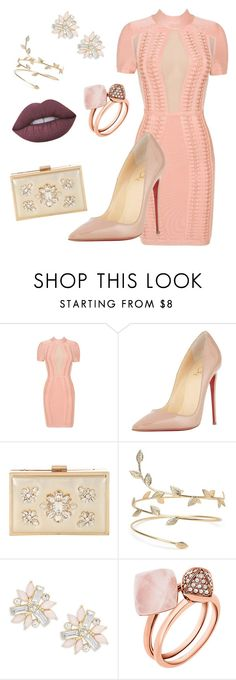 Untitled #28 by oumaymaloroj on Polyvore featuring Posh Girl, Christian Louboutin, Jane Norman, Cara, Michael Kors and Lime Crime