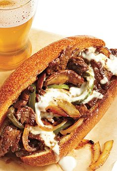 Recipe Makeover: Cheesesteak from Cooking Light. Phillies are so gooood. Fortunately Cooking Light has give us some options to make this less of a greasy guilt trip.