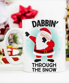 Another great find on #zulily! Ceramic 'Dabbin Through the Snow' Mug by Love you a Latte #zulilyfinds Inspiration for DIY project