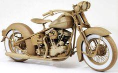 cardboard motorcycle