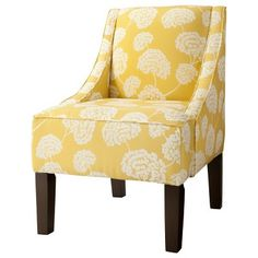 Hudson Upholstered Accent Chair - Botanical Yellow : Target Mobile