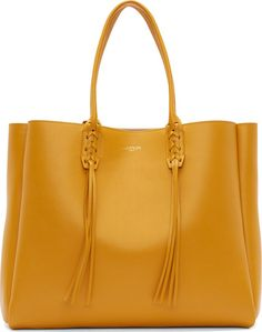 •Website: http://www.cuteandstylishbags.com/portfolio/lanvin-golden-yellow-calf-leather-fringed-shopper-tote-bag/ •Bag: Lanvin Golden Yellow Calf Leather Fringed Shopper Tote Bag