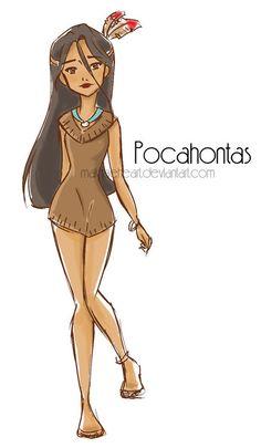Pocahontas fashion design.