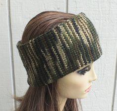 Knit Headband ear warmer double Camo fashion Winter Accessories handmade | eBay