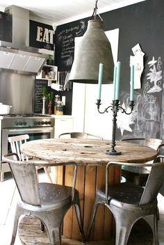 Hoe richt ik een kleine eetkamer industrieel in? Tips daarvoor in deze blog. Industriële kleine eetkamer. Industrial dining room.