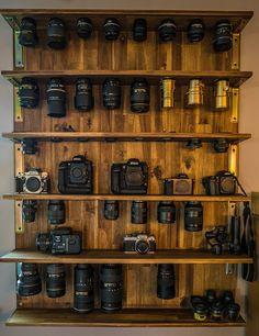Built a shelf for all my lenses Check out the full project http://ift.tt/2cIY8e5 Don't Forget to Like Comment and Share! - http://ift.tt/1HQJd81