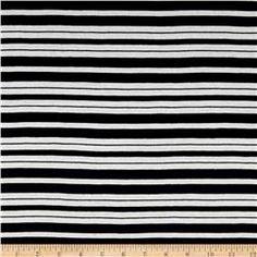 Designer Jersey Knit Stripe Navy/White