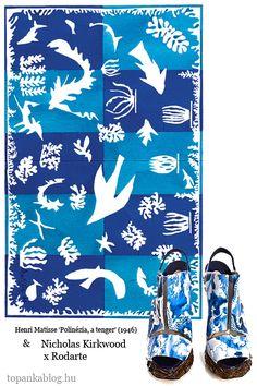 Painting by Henri Matisse, shoes by Nicholas Kirkwood for Erdem