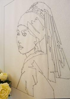 Dot to Dot wall artwork-  using nails and string
