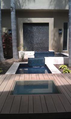 fontaine murale extérieure, trois petits bassins