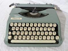 Smith Corona Empire Manual Typewriter with Carry Case, Portable Manual Typewriter, Desktop Vintage Typewriter, 1960s Office, Made in England by GinnysGirlsTreasures on Etsy