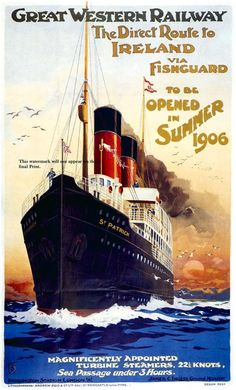 Ireland 1906 _________________________ #Vintage #Travel #Poster