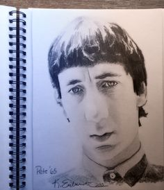 A drawing of Pete Townshend by me. Done in pencil.