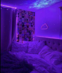 Neon Bedroom, Room Design Bedroom, Room Ideas Bedroom, Bedroom Decor, Bedroom Inspo, Light Bedroom, Bedroom Small, Indie Room Decor, Teen Room Decor