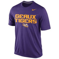 LSU Tigers Nike Legend Local Performance T-Shirt – Purple