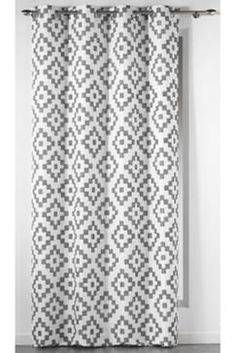 rideau pesca taupe x cm leroy merlin id e ha rideaux coussins pinterest. Black Bedroom Furniture Sets. Home Design Ideas