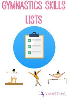 gymnastics skills list by event & level