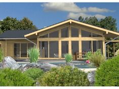 Single storey 2 bedroom flat pack home design by Stommel Haus Flat Pack Homes Uk, Stommel Haus, Self Build Houses, Timber House, Modern Bedroom Design, House Extensions, Kit Homes, Luxurious Bedrooms, Luxury Homes
