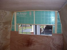 Back wall with insulation and paneling