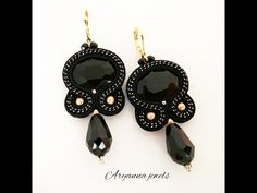 Awesome Most Popular Embroidery Patterns Ideas. Most Popular Embroidery Patterns Ideas. Soutache Tutorial, Earring Tutorial, Diy Tutorial, Bead Embroidery Tutorial, Beaded Embroidery, Embroidery Designs, Soutache Earrings, Chain Earrings, Diy Jewelry